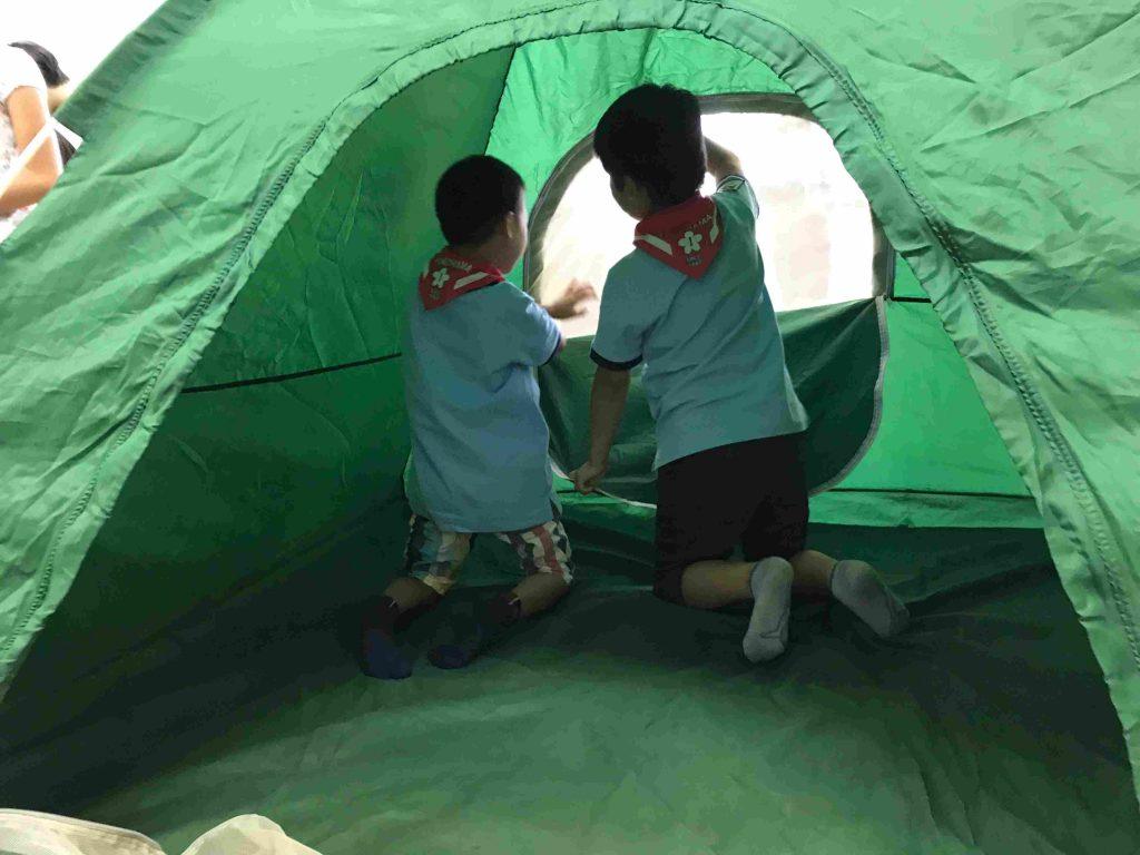 ビーバー隊集会 テント体験 2018年6月24日